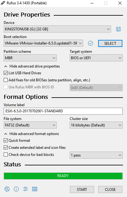 How to create a bootable flash-drive containing ESXi installer